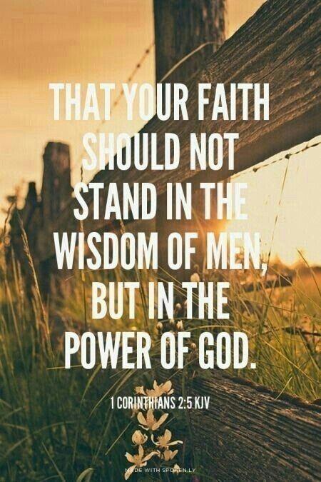 1 Corinthians 2 verse 5