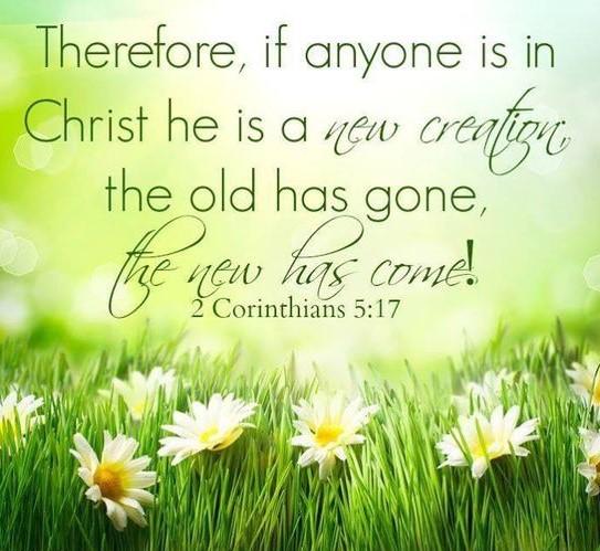 2 Corinthians 5 verse 17 flowers
