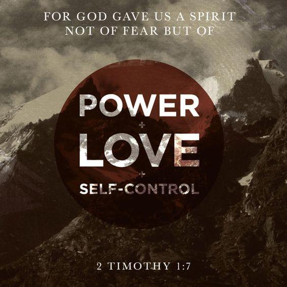 2 Timothy 1 v 7