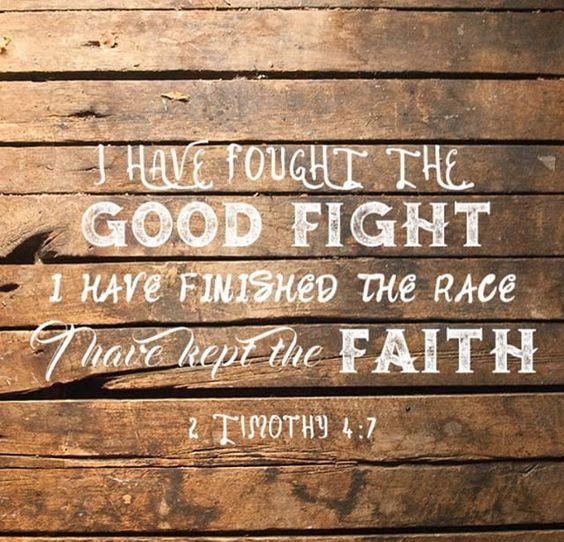 2 Timothy 4 v 7 wood