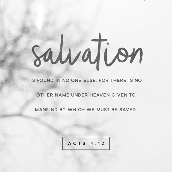 Acts 4 verse 12