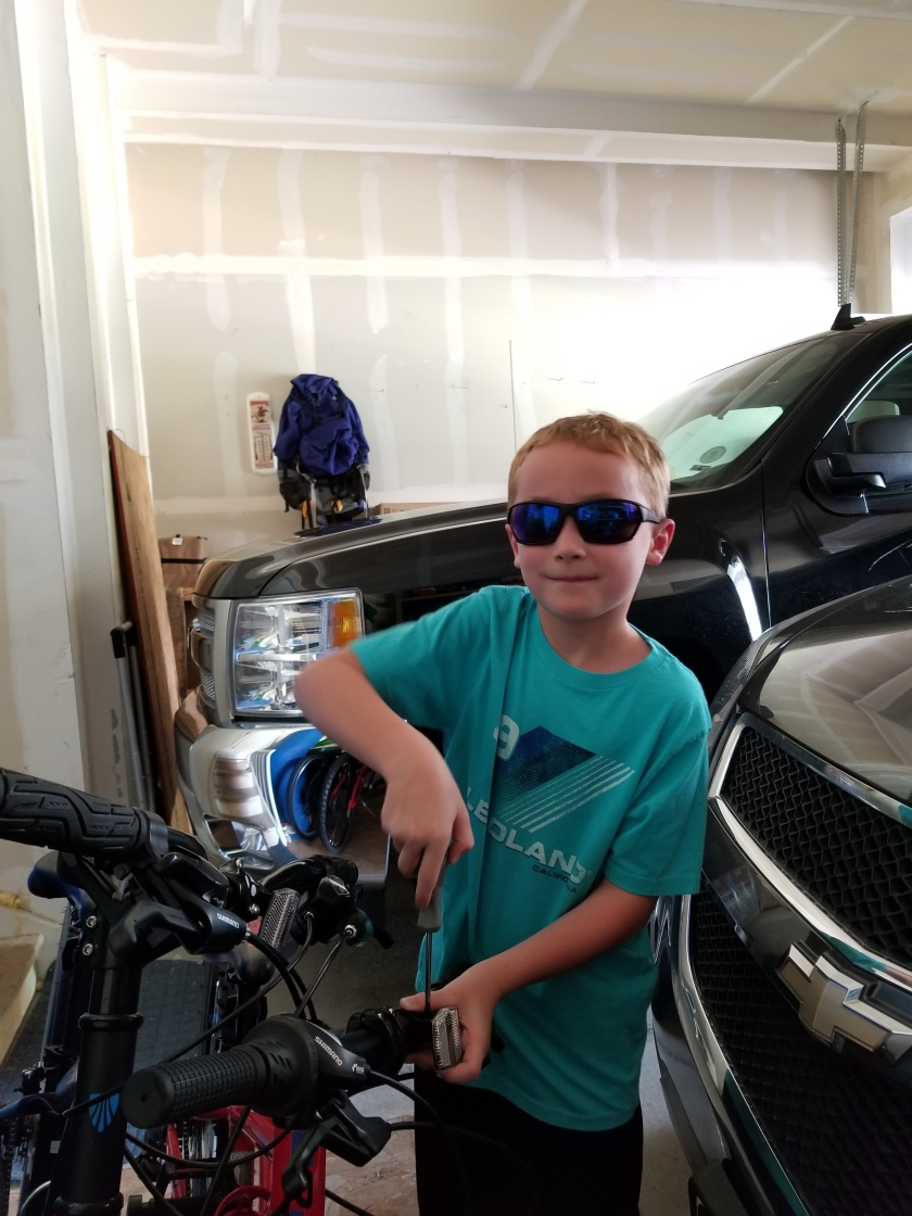 Ben fixing bike 2