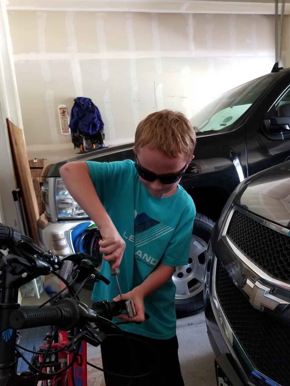 Ben fixing bike