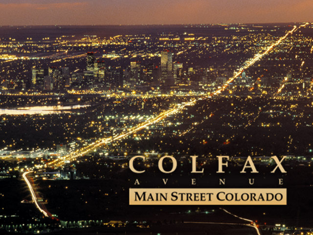 Colfax Ave at night