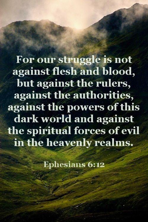 Ephesians 6 v 12