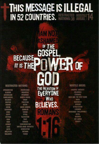 Hostile nations to the Gospel