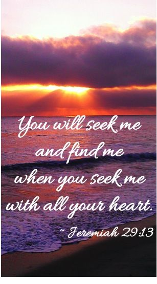 Jeremiah 29 v 13