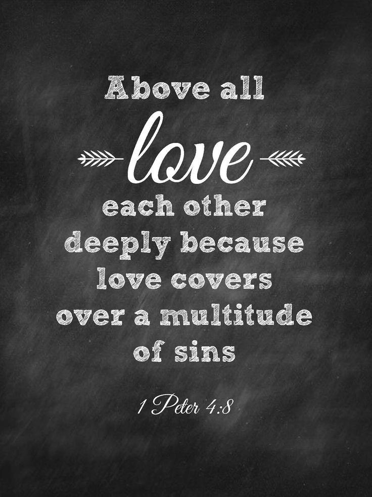 Love deeply verse