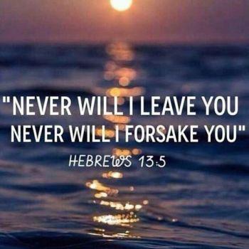 Never forsake verse