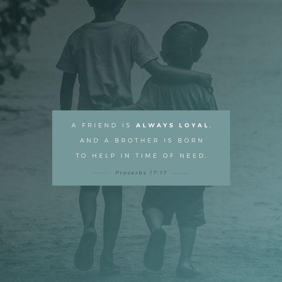 Proverbs 17 verse 17