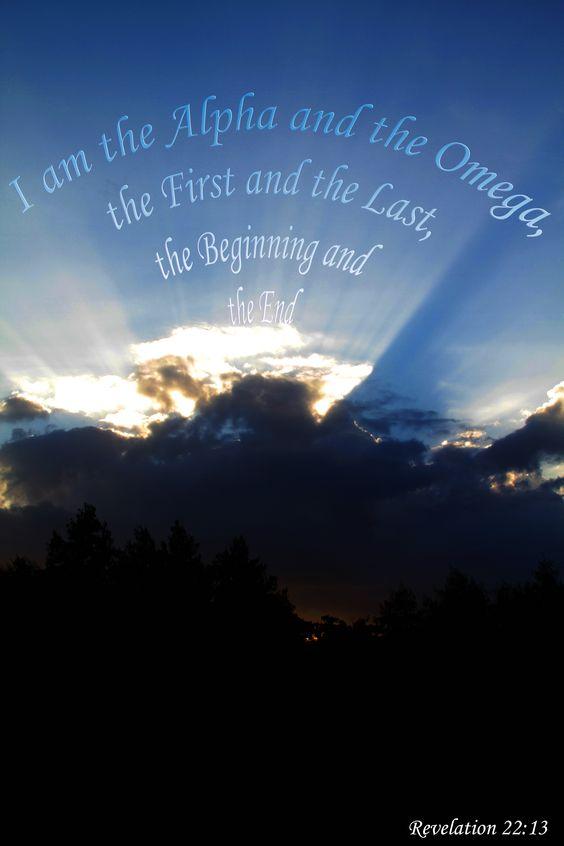 Revelation 22 v 13