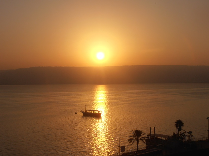 Sea of Galilee 7 sunset