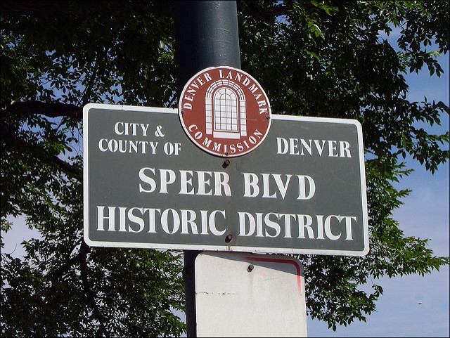 Speer Blvd sign