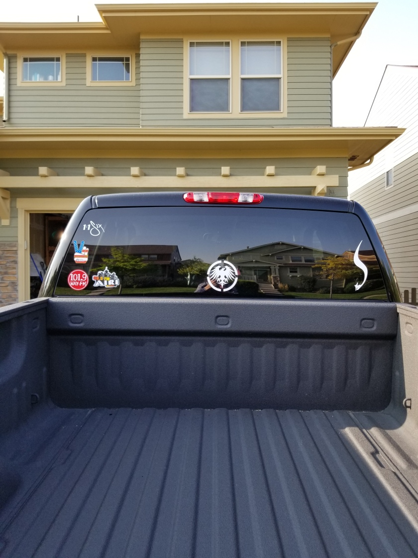 Truck back window