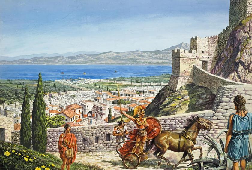 Ancient Corinth art