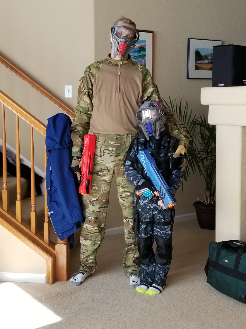 Dad & Ben geared up 2