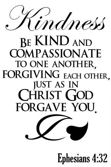 Ephesians 4 v 32 black & white