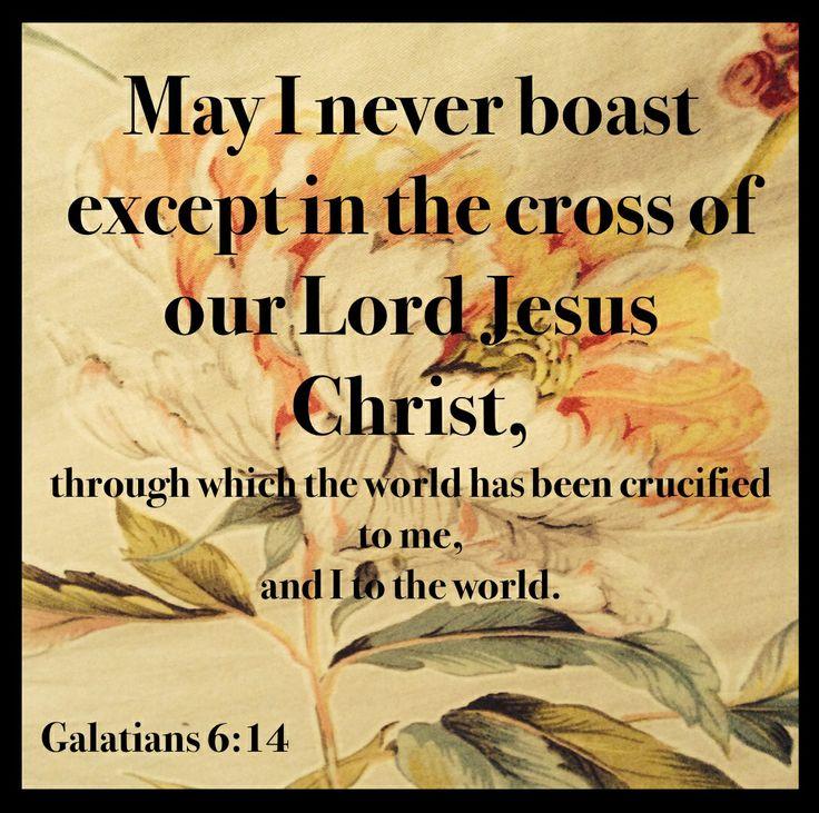 Galatians 6 v 14 boast in Christ