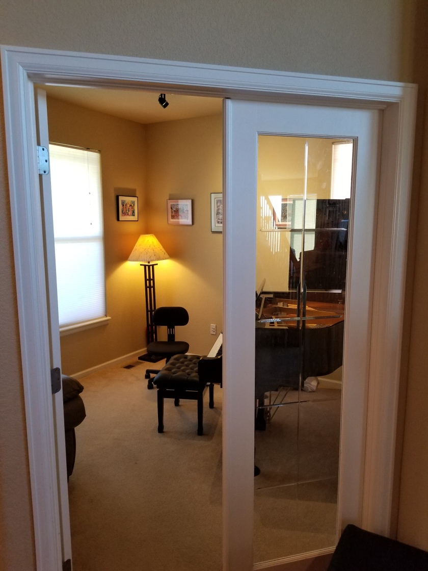 Gallery piano room view