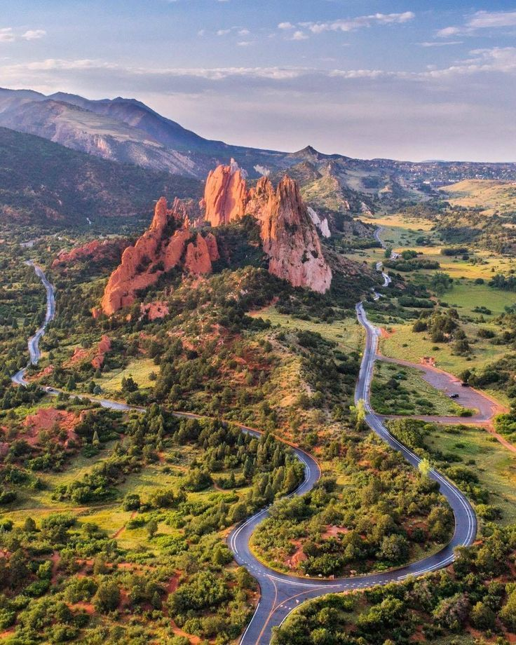 Garden of the Gods aerial view