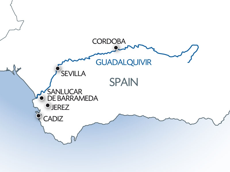 Guadalquivir River map