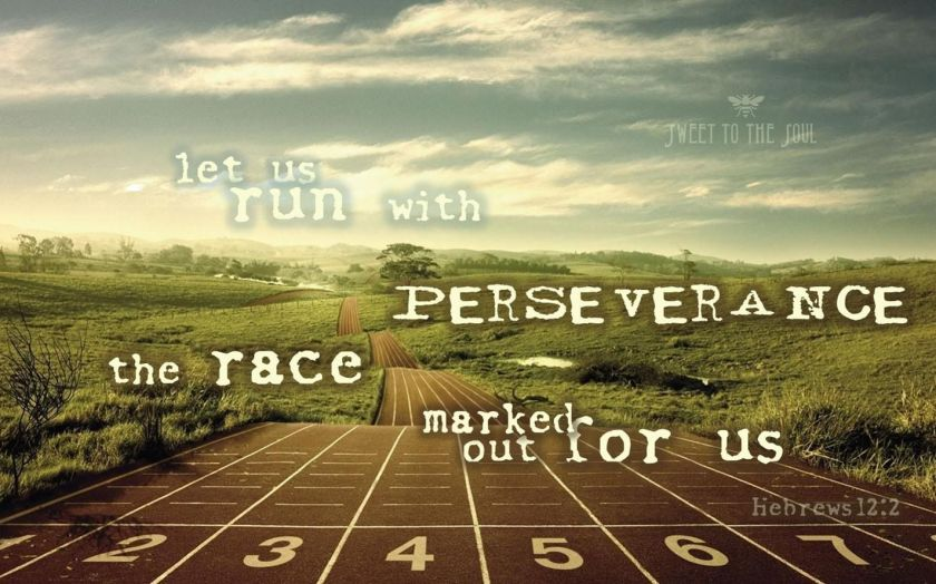 Hebrews 12 v 2 run the race