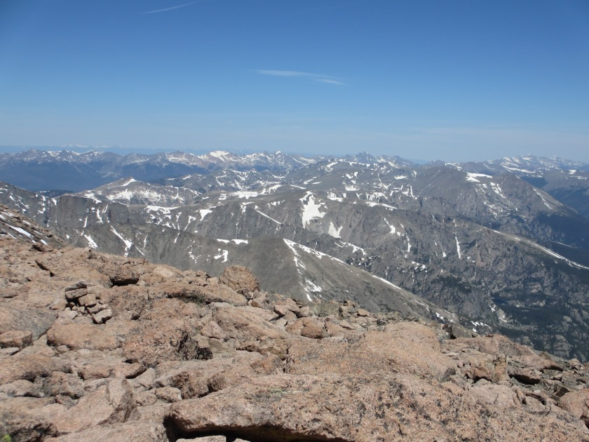 Long's Peak Summit view