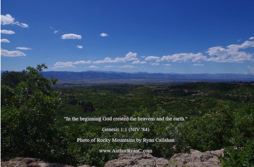 Pic quote Genesis 1 v 1