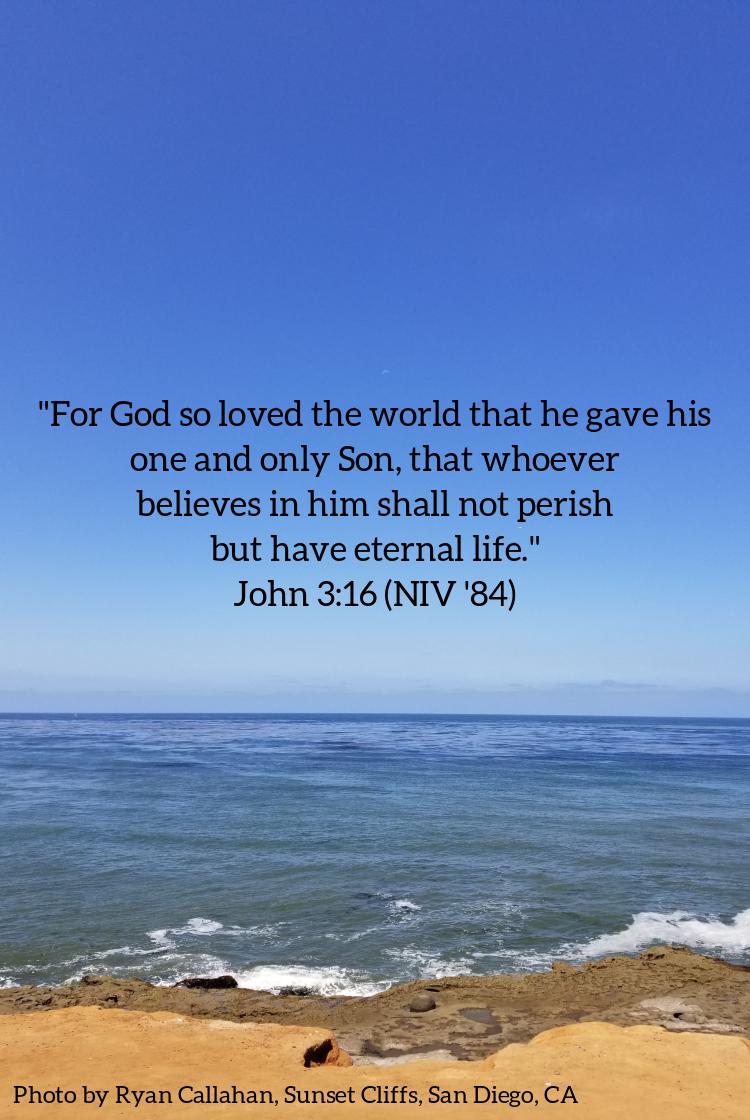 Pic quote John 3 v 16