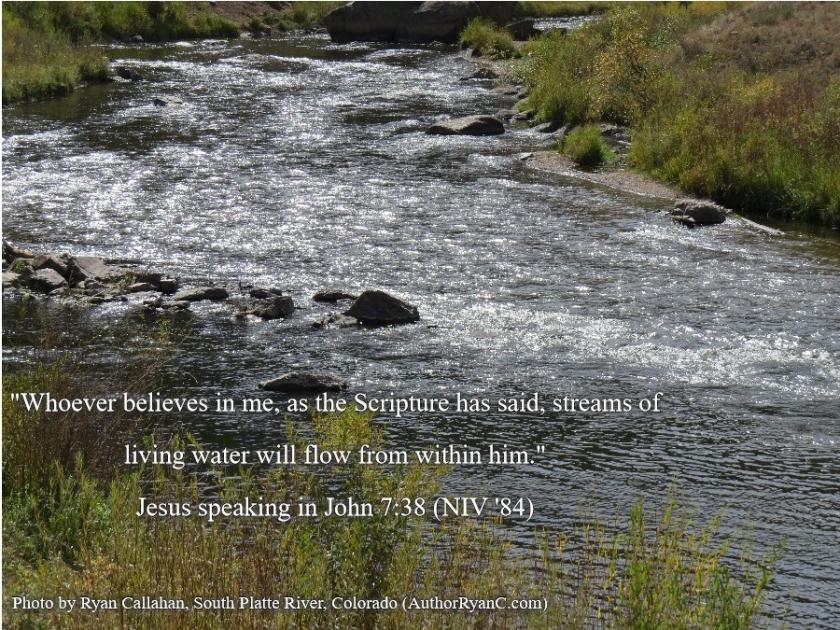 Pic quote John 7 v 38