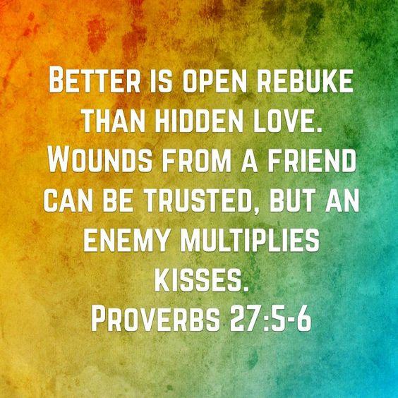 Proverbs 27 v 5 & 6