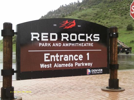 Red Rocks sign