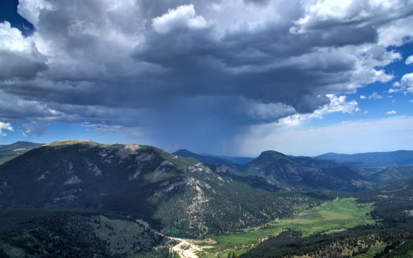 Rocky Mountain rain