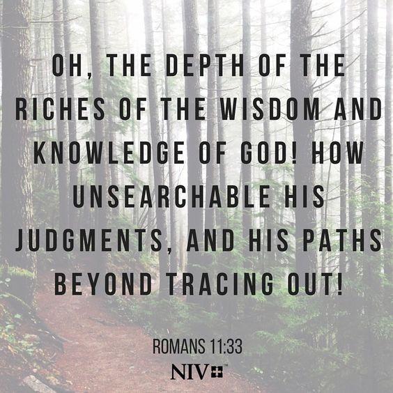 Romans 11 v 33
