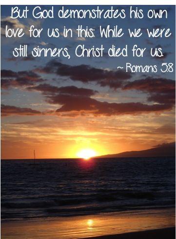 Romans 5 v 8