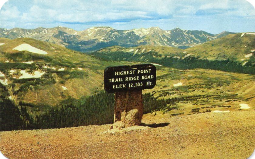 Trail Ridge Road sign