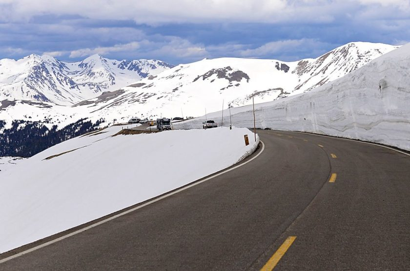 Trail Ridge Road snow wall
