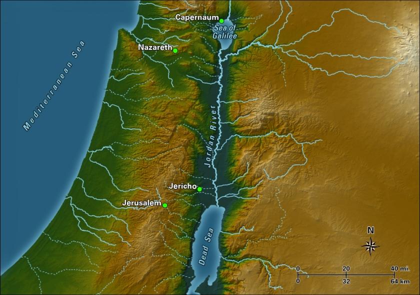 Jordan River map