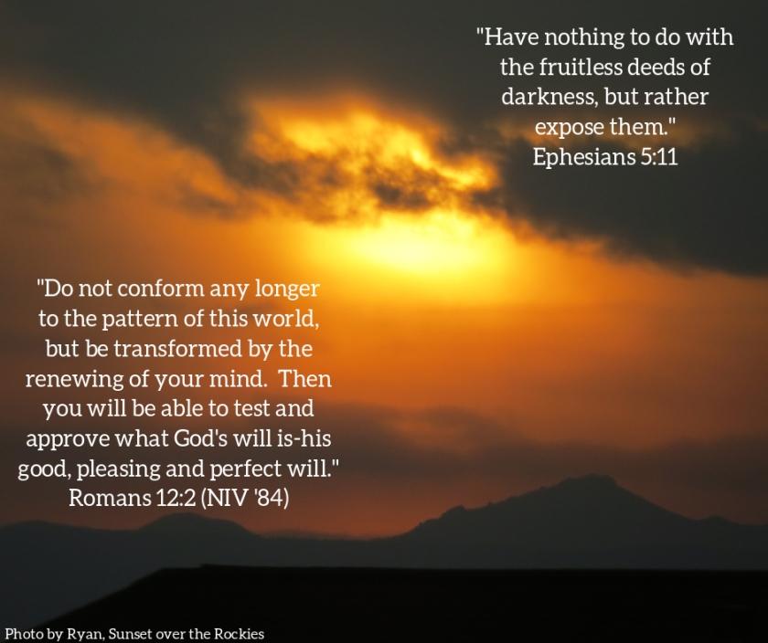 Pic quote Eph 5 v 11 Rom 12