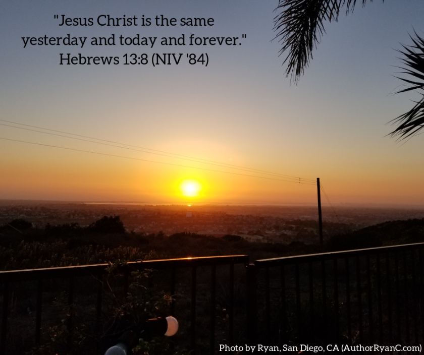 Pic quote Hebrews 13 v 8