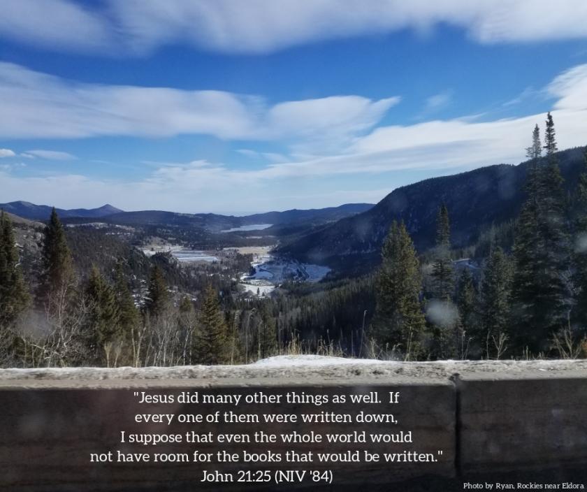 Pic quote John 21 v 25