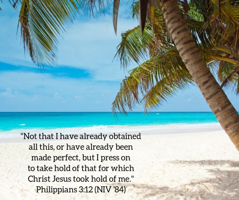 Pic quote Phil 3 v 12 beach