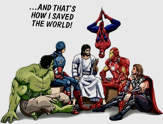 Jesus with Marvel
