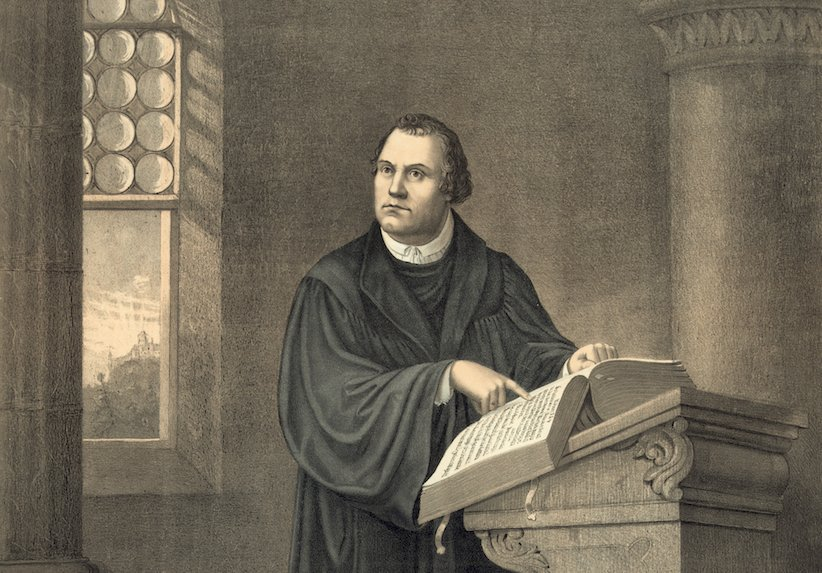 Martin Luther with Bible