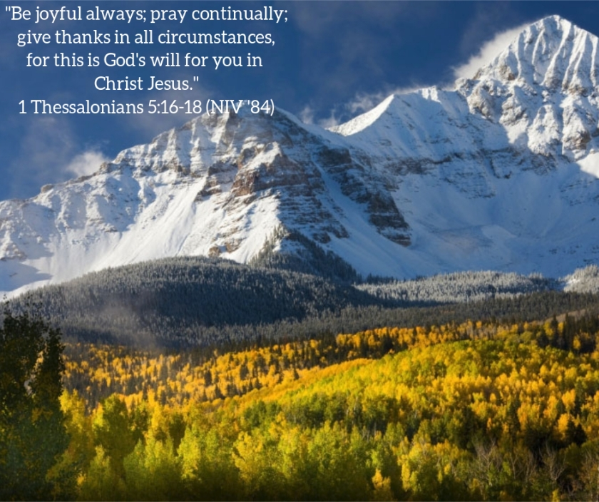 Pic quote 1 Thessalonians 5 v 16