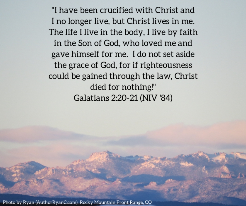 Pic quote Galatians 2 v 20