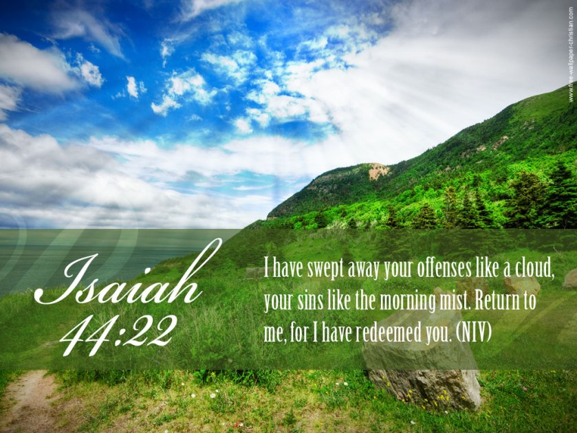 Pic quote Isaiah 44 v 22