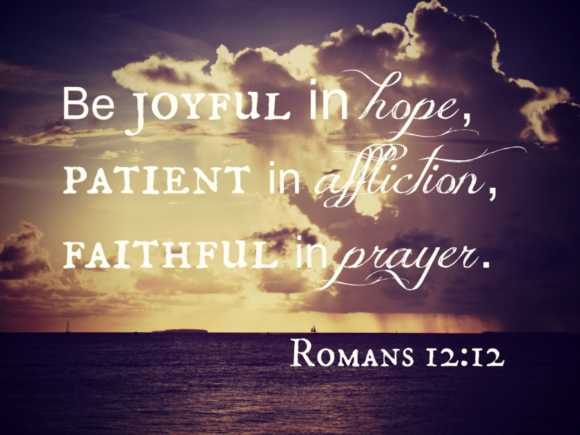 Pic quote Romans 12 v 12
