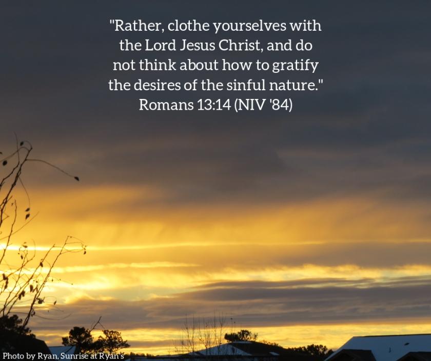 Pic quote Romans 13 v 14