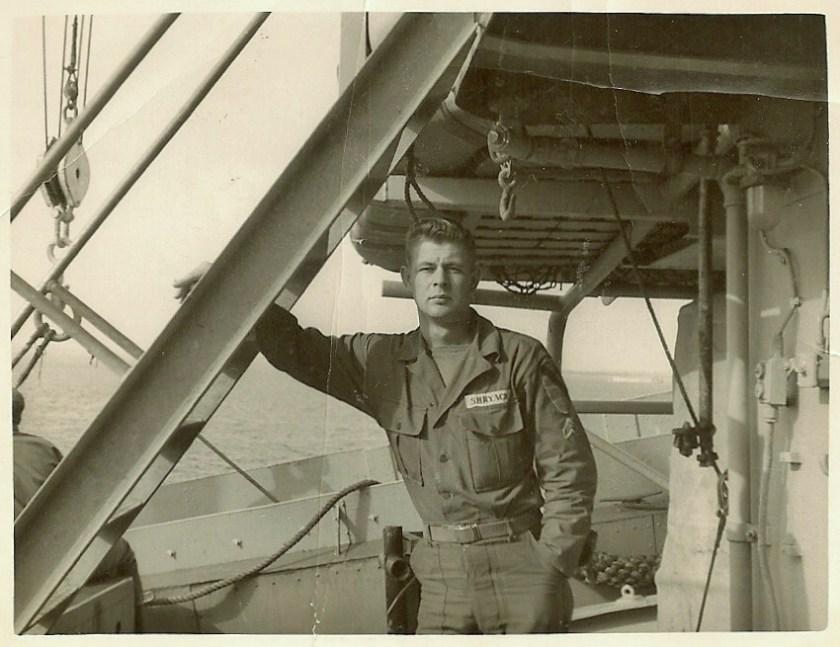 Grandpa on ship
